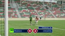 فيديو : أطفال صغار يعيدون تجسيم مباراة نهائي كأس العالم بين فرنسا و كرواتيا