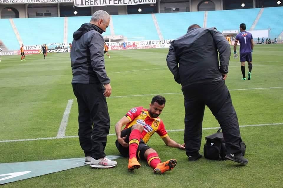 الترجي الرياضي : إصابة عضليٌة لطه ياسين الخنيسي
